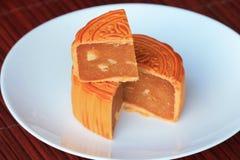 Gâteau chinois de lune Images stock