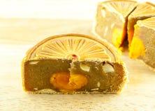 Gâteau chinois de lune et thé chinois Photographie stock