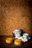 Gâteau chinois de lune pour le festival images stock