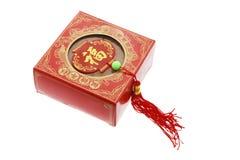 Gâteau chinois et bibelot d'an neuf Photographie stock libre de droits
