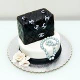 Gâteau classique de fontaine de sac à main de Chanel Images stock