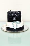 Gâteau classique de fontaine de sac à main de Chanel Photo stock