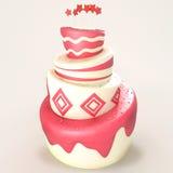 Gâteau coloré Photos libres de droits