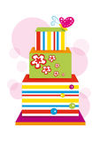 Gâteau coloré Images libres de droits