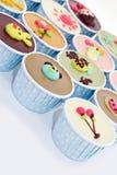 Gâteau coloré de cuvette Image stock