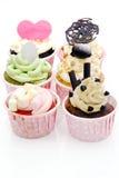 Gâteau coloré de cuvette Photo libre de droits