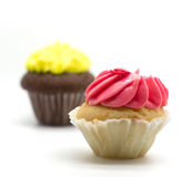 Gâteau coloré de tasse Images stock