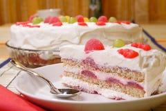 Gâteau crème Images libres de droits