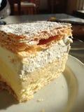 Gâteau crème appétissant de saigner Photo stock