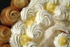 Gâteau crème - détail Photo libre de droits