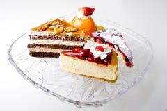 Gâteau crème de mousse de desserts gastronomes délicieux Photos libres de droits