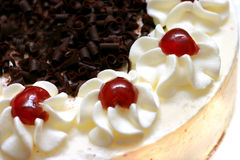 Gâteau crème fouetté Image stock