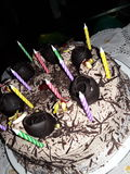 Gâteau crémeux photo libre de droits