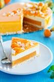Gâteau crémeux avec la noix de coco image stock