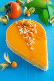 Gâteau crémeux avec la noix de coco image libre de droits