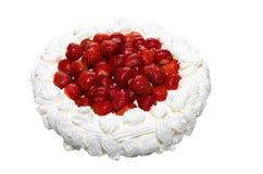 Gâteau crémeux de fraise Image stock