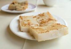 Gâteau cuit à la vapeur de navet. Image libre de droits