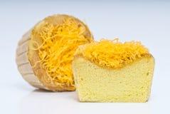 Gâteau déchiqueté de jaune d'oeuf Photo libre de droits