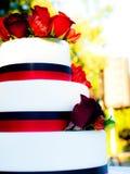 Gâteau décoré 3 par rangées Photos stock