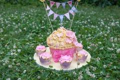 Gâteau décoré Photo libre de droits