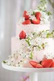 Gâteau décoré photographie stock libre de droits
