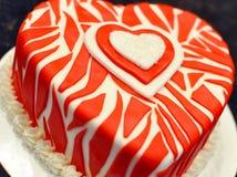 Gâteau décoré de valentines Photo libre de droits