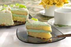 Gâteau découpé en tranches Image libre de droits
