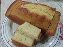 Gâteau délicieux de beurre Images libres de droits