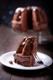 Gâteau délicieux de livre de chocolat Photos libres de droits