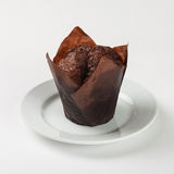 Gâteau délicieux de petit pain de chocolat Photo stock