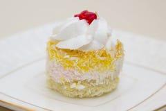Gâteau délicieux de plat Photos stock