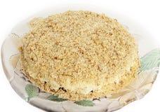 Gâteau délicieux de raccord en caoutchouc et de noix images stock