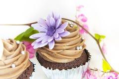 Gâteau délicieux et beau de petit animal sur le fond blanc. Images stock