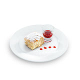 Gâteau délicieux et délicieux de napoléon avec du sucre de confiseurs Image stock