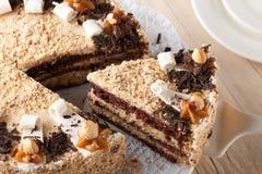 Gâteau d'écrou Photos libres de droits