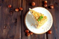 Gâteau d'écrou Photographie stock