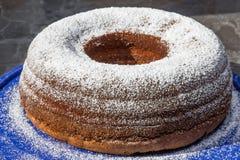 Gâteau d'écrou de chocolat Images libres de droits