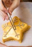 Gâteau d'étoile Image libre de droits