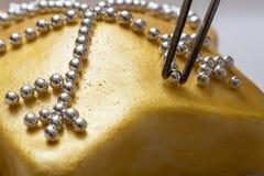 Gâteau d'or Photographie stock libre de droits