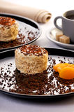 Gâteau d'abricot Photographie stock