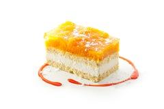 Gâteau d'abricot photographie stock libre de droits
