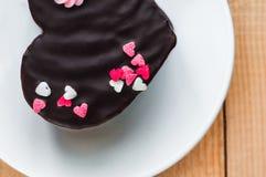 Gâteau d'amour du plat Photo stock