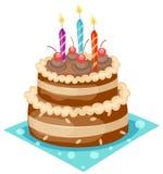 Gâteau d'anniversaire illustration de vecteur