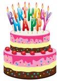 Gâteau d'anniversaire illustration libre de droits