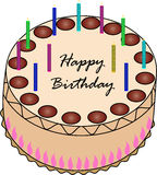 Gâteau d'anniversaire Photos libres de droits