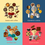 Gâteau d'anniversaire Biscuits de grand-mamans Bonbons avec Photo stock