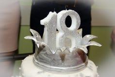 Gâteau d'anniversaire blanc Image stock