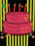Gâteau d'anniversaire dans des couleurs lumineuses Image libre de droits
