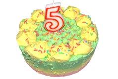 Gâteau d'anniversaire de Childs Images stock