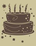 Gâteau d'anniversaire de deux sons Photos libres de droits